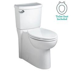 American Standard 2989.101 Cadet 3 Elongated Two-Piece Toilet with Concealed Tra White Fixture Toilet Two-Piece Elongated