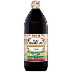 Najwyższej jakości olej z pestek dyni tłoczony tradycyjnie. Piękny zapach, niesamowita konsystencja, wspaniały smak. Tłoczony z pestek dyni styryjskiej. Spróbuj i sprawdź! Wine, Drinks, Bottle, Food, Drinking, Beverages, Flask, Essen, Drink