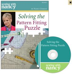 Solving the Pattern Fitting Puzzle DVD by Nancy Zieman of TV's Sewing With Nancy PBS Show. Learn how to fit sewing patterns. Easy Sewing Projects, Sewing Projects For Beginners, Sewing Hacks, Sewing Tutorials, Sewing Tips, Dress Tutorials, Sewing With Nancy, Love Sewing, Sewing Coat