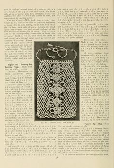 Tatted Bag - The Priscilla Tatting Book No. 2, published 1909