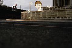 'Sketchy' project by photographer Lewis Royden. Jordan Sharkey - Switch-backside-heelflip. Illustration - Kidmilk & Will Berry