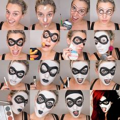 Harley Quinn Makeup Ideas   Instructions supplies and more photos after the jump! (more…)