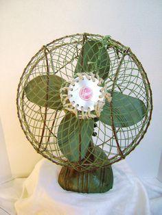 Fan Rare Hoover Electric 1950s Tabletop Fan Tastic by junquegypsy, $52.00