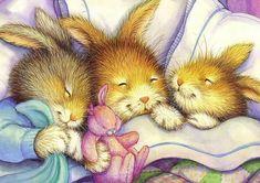 """Snuggle Bunnies"" - art by Susan Wheeler Susan Wheeler, Bunny Art, Cute Bunny, Lapin Art, Rabbit Art, Beatrix Potter, Children's Book Illustration, Whimsical Art, Animal Drawings"