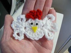 Little Chicken - Free Crochet Pattern - cute of use as fridgie