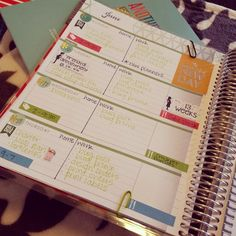 Planner usage - home/work division - awesome idea