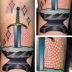 Sword in the Stone piece done by @greglodato_tattoos  #InkedDisney