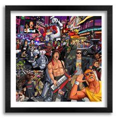 Tribute to popular culture . Jim'll Paint It Cultura Pop, Ps Wallpaper, 90s Pop Culture, 1980s Art, Kunst Poster, Tribute, Movie Poster Art, Cult Movies, Popular Culture