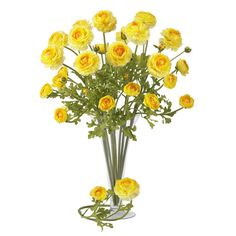 "Found it at Wayfair - 23"" Ranunculus Stem in Yellow"