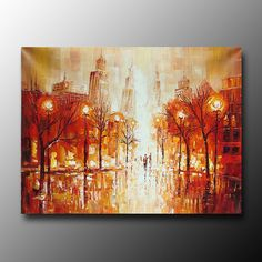Hand Painted Free Shipping Stretched Framed Oil Wall Art by btfart
