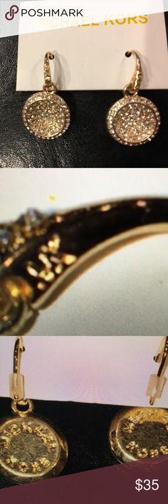 Michael Kors Glittering Earrings Beautiful gold and rhinestone earrings by Michael Kors Michael Kors Jewelry Earrings