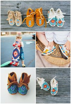 Loving these baby moccasins