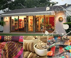 Nur is the retail brand of Noorjehan, a company that designs and manufactures luxurious textiles. Their work is a mix of plush fabric, embellishment and high quality finish. Colours tend to be vibrant, some things are a bit OTT for my somewhat spartan tastes. But what a pretty shop, eh? http://www.noorjehan.org/