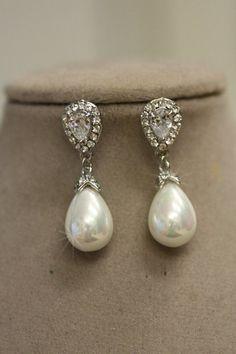8-9 Mm Blanc Naturel Akoya Freshwater Pearl sterling silver Hook Dangle Earrings