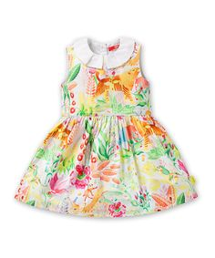 Look at this Oilily White & Yellow Deer Dress - Infant, Toddler & Girls on today! Baby Girl Dresses, Baby Dress, Designer Kids Clothes, Baby Girl Fashion, Kids Fashion, Girls Wear, Infant Toddler, Toddler Girls, Kids Girls