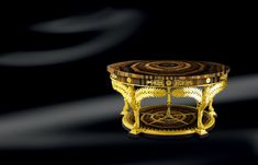Crafted and designed according to the ancient Florentine techniques, Baldi classic furnitures give shape to dreamlike interiors Round palm table in tiger eye and gold plated bronze Luxury Interior, Interior Design, Classic Artwork, Classic Furniture, Furnitures, Luxury Lifestyle, Decorative Accessories, Palm, Bronze
