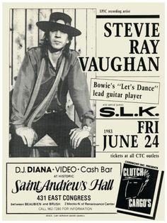 Stevie Ray Vaughan Concert Ad https://www.facebook.com/FromTheWaybackMachine