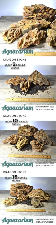 Ohko Stone Aquascape Stone Dragon Stone Aquascape Rock 15 Pounds # 26 Beautiful In Colour