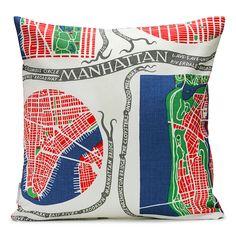Pillow Manhattan Lin, Josef Frank