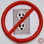 No Electricity camping demerit merit badge Name Patches, Pin And Patches, Iron Patches, Boy Scouts Merit Badges, Fabric Patch, Cool Pins, Band Shirts, Couple Shirts, Patches
