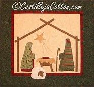 Image result for Manger Scene Quilt Pattern