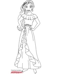 Elena of avalor printable coloring page elena for Elena of avalor coloring pages