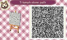 ACNL Stone Path QR Code.