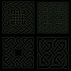 CELTIC QUILTING BACKGROUNDS 4inch 12 Machine Embroidery