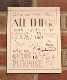 All Things Hand Lettered Typography Bible Verse by CornerChair, $24.99