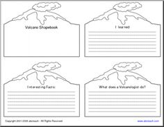 Volcano Theme Unit: Valcanoes Printables & Worksheets