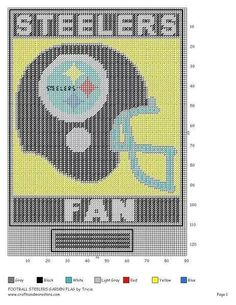 FOOTBALL STEELERS GARDEN FLAG by TRICIA