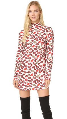 Buy it now. Just Cavalli Crazy Lips Print Dress - White Variant. Animal patterns accent the bold lip print on this Just Cavalli dress. A hidden button fastens the high neckline. Long sleeves. Lined. Fabric: Slinky weave. 97% cotton/3% elastane. Dry clean. Made in Italy. Measurements Length: 31in / 79cm, from shoulder Measurements from size 38. Available sizes: 44 , vestidoinformal, casual, camiseta, playeros, informales, túnica, estilocamiseta, camisola, vestidodealgodón…