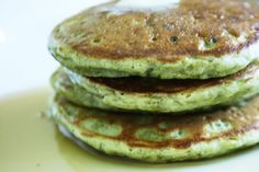 I took my go-to recipe for pancakes from The New Best Recipe and added matcha for a twist on this American classic.