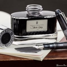 """Graf von Faber-Castell Stone Grey… just a little """"dye candy"""" for your Friday.Click the link in our bio to grab a bottle today!Pen: Pilot Custom 74 Smokeandersonpens.com--#dyecandy #fpn #fpgeeks #penaddict #fountainpenday #fountainpen #fountainpens #fountainpenink #penandink #inkophile #handwriting #andersonpens #grafvonfabercastell #stonegrey #pilotpen #pilotcustom74 #pilotjacket Anderson Pens, Graf Von Faber Castell, Pilot Pens, Fountain Pen Ink, Eco Friendly House, Just A Little, Grey Stone, Flask, Candy"""