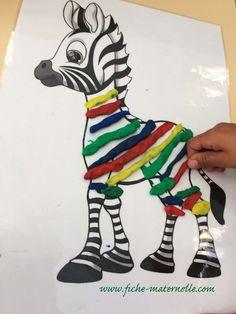 Nursery Activities, Playdough Activities, Toddler Activities, Motor Skills Activities, Kindergarten Activities, Forest Animals, Zoo Animals, Rainbow Fish Crafts, African Art Projects