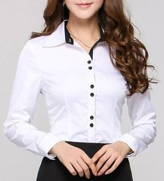 New 2015 Autumn Formal Women Blouses & Shirts Long Sleeve Pink Ladies Office Uniform Shirts for Work Print Camisas Femininas Ladies Shirts Formal, Dress Shirts For Women, Blouses For Women, Mode Outfits, Fashion Outfits, Scrubs Outfit, Uniform Shirts, Professional Outfits, Androgynous Fashion