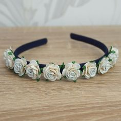Your place to buy and sell all things handmade Flower Girl Headbands, Flower Crowns, Floral Flowers, Blue Flowers, Wedding Headband, More Cute, Things To Come, Etsy Shop, Bridal