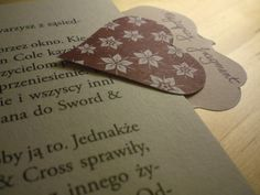 bookmarks for books, pretty , decorated with hearts