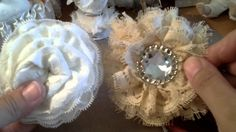 Shabby chic lace flower tutorial  (tutu accessories).