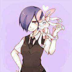 Pixiv Id 2943202, Tokyo Kushu, Pokémon, Sylveon, Kirishima Touka, Asymmetrical Bangs