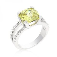 Fabulous Peridot Engagement Ring