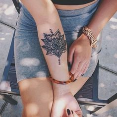 Tribal Lotus Tattoo