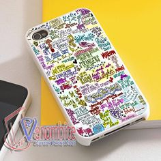Disney Collage Song Lyrics Phone Case For iPhone 4/4s Cases, iPhone 5 Cases, iPhone 5S/5C Cases, iPhone 6 cases & Samsung Galaxy S2/S3/S4/S5 Cases