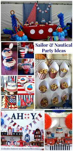 Sailor Party Ideas #Nautical #Birthday www.momsandmunchkins.ca