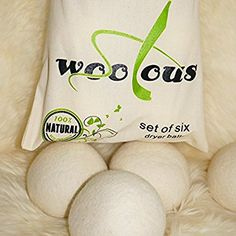 Woolous Premium New Zealand Merino Wool Dryer Balls 100% Pure Organic Non-Toxic,Reusable, Reduce Wrinkles, Saves Drying Time Felted Laundry Drying Ball, 40gr, 7cm, 3Pcs/Pack