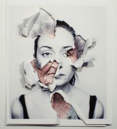 Lorena Cosba-could do this with students-a self portrait, and a contrasting image to show what's underneath.