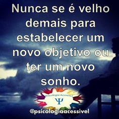 Vamos sonhar então!  #psicologiaacessivel #psicologia #psicoacessivel #psico #psi #psychology #planos #sonhos #objetivos #bomdia #quartafeira