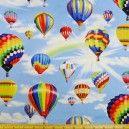 Colourful Hot Air Balloons Cotton Fabric