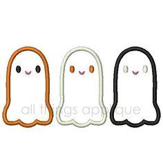 Ghost Trio Applique Design  3 Sizes  INSTANT by allthingsapplique, $4.00