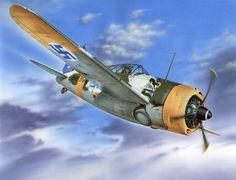 Brewster B-239 Buffalo 'Taivaan Helmi over Finland', by Stan Hajek